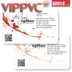 Business card template for Clear PVC Card 0.38mm /   Paper business card 300gms a5015 Double faced Printing CR80-200pcs