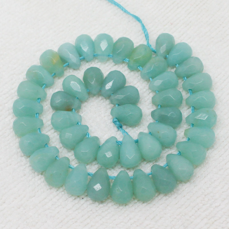 Natural Blue Amazonite Faceted 6x9mm Drop Beads 44pcs,Beads For DIY Jewelry making ,We provide mixed wholesale for all items!<br><br>Aliexpress