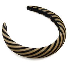 Hot Sales New Gold & Black 2.5cm Striped Velvet Hairband Headwear Brief Fashion Girls Women Headband Lovely Hair Accessories(China (Mainland))