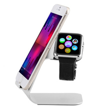 Universal 2 in 1 Multifunction Apple Watch Stand Aluminium Phone Holder Charging Support for iPhone for Samsung for iPad Tablet