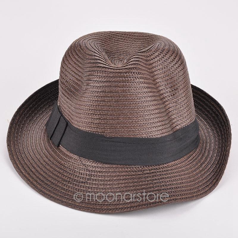 Популярные мужская фетровая шляпа плетеный мягкая фетровая шляпа бандитский соломенная шляпка вс Cap летний пляж торговый путешествия FYMPJ103 # Y5