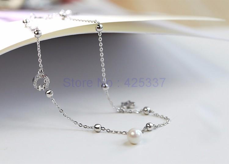 Стерлингового Серебра 925 с Платиновым Покрытием Имитация preal Браслеты Женщины Моды Марка Ювелирные Аксессуары (SA049)