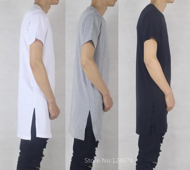 cool side split t shirt men ood by air fake designer ...