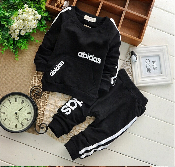 HOT Retail 2-6Y Baby Costume Boys Girls Clothing Sets Kids Casual Suit Children Long Sleeve Shirt +Pants 2PCS Spring Autunm wear(China (Mainland))