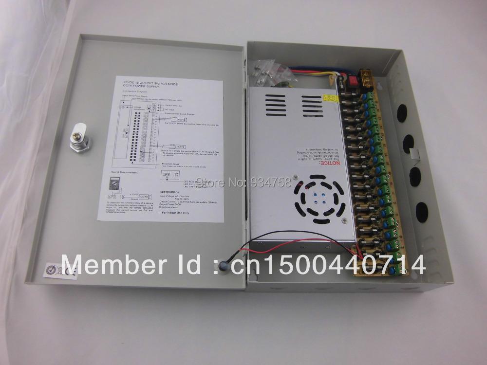 18CH 12V 30A CCTV Camera Power Supply Box / 12V 30A Monitor Power Supply/ Switch Power Supply(China (Mainland))