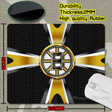 Cheap Discount Hockey Boston Bruins NHL Team Creative Logo Laser Anti-Slip Mouse Pad Soft Rubber Mat for Optical Mice(China (Mainland))