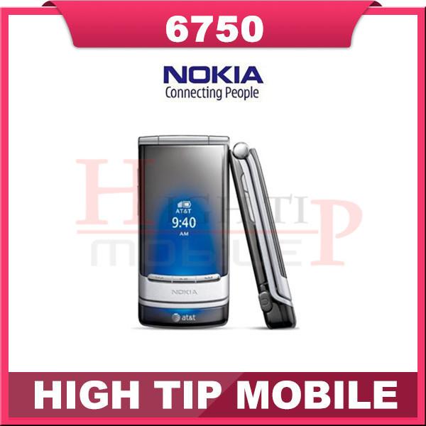Unlocked Original Nokia Mural 6750 Flip 3G Cell Phone Refurbished Free shipping One year warranty(China (Mainland))