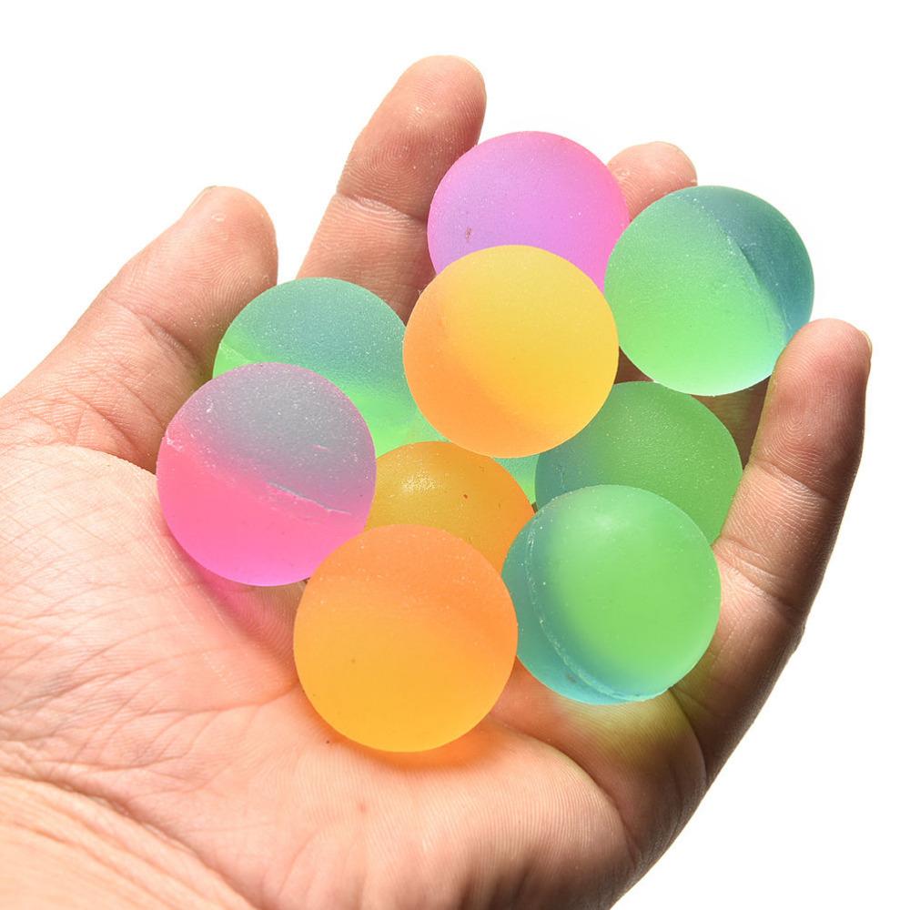 Boy Bouncing Ball Colored Rubber Kids Sport Games Elastic Juggling Jumping Balls Luminous Children Toy Outdoor Toys Ball