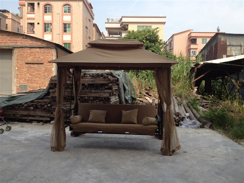 Single luxury three swing outdoorwith rocking chair swing new arrival 260x175cm(China (Mainland))