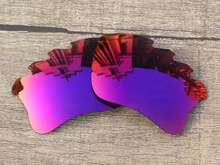 Midnight Sun Mirror Polarized Replacement Lenses For Flak Jacket XLJ Vented Sunglasses Frame 100% UVA & UVB Protection