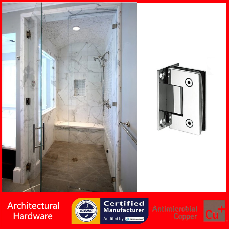 90 Degree Shower Door Hinges 304 Stainless Steel Spring Hinge DC-1031 Wall to Glass Fitting Glass Clamp(China (Mainland))