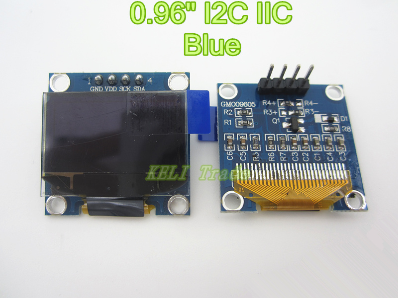 "Free shipping 1Pcs 128X64 Blue OLED LCD LED Display Module For Arduino 0.96"" I2C IIC SPI Serial new original(China (Mainland))"