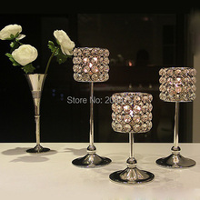 free shipping 3pcs/lot glass tealight candle holders wedding ceremony centerpiece(China (Mainland))