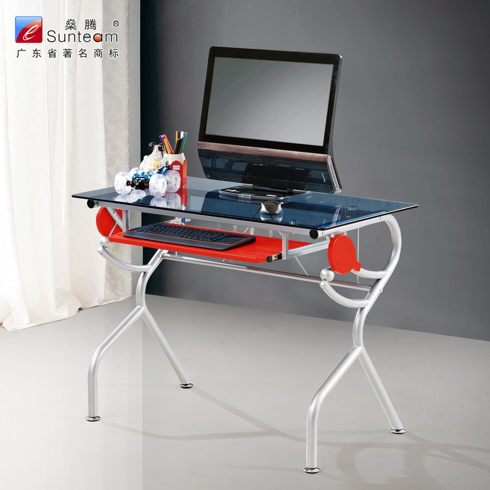 SUNTEAM home creative personality minimalist glass-one desktop computer desk computer desk desk 1 m(China (Mainland))