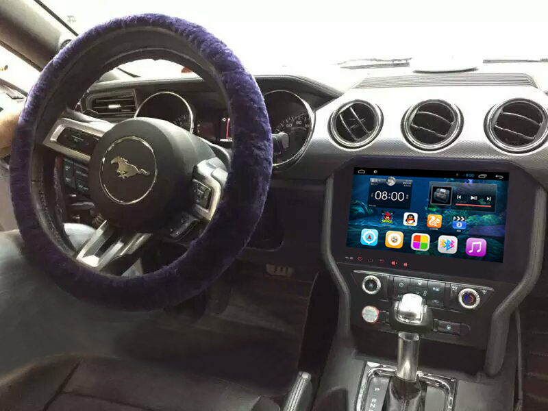 10.2 inch Android 6.0 Car Dvd Gps Navi Audio for FORD MUSTANG 2015 with dvd reader 1024*600 OBD Original Steering wheel