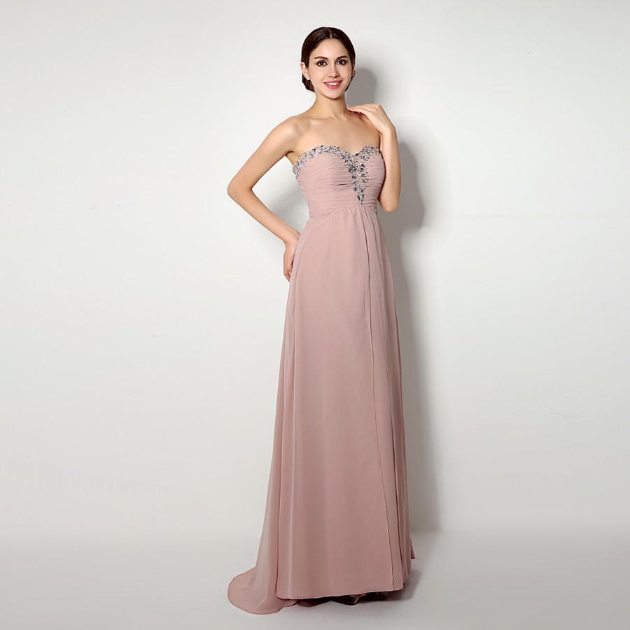 Online get cheap long pastel chiffon dress for Pastel dresses for wedding guests