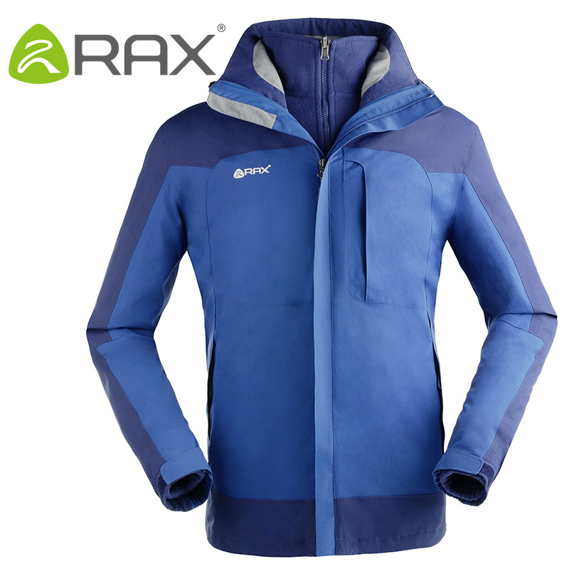 RAX Winter Outdoor Waterproof Jacket For Men and Women 3 in 1 Windproof Softshell Jacket Hiking Jacket Men Outdoor Windbreaker<br>
