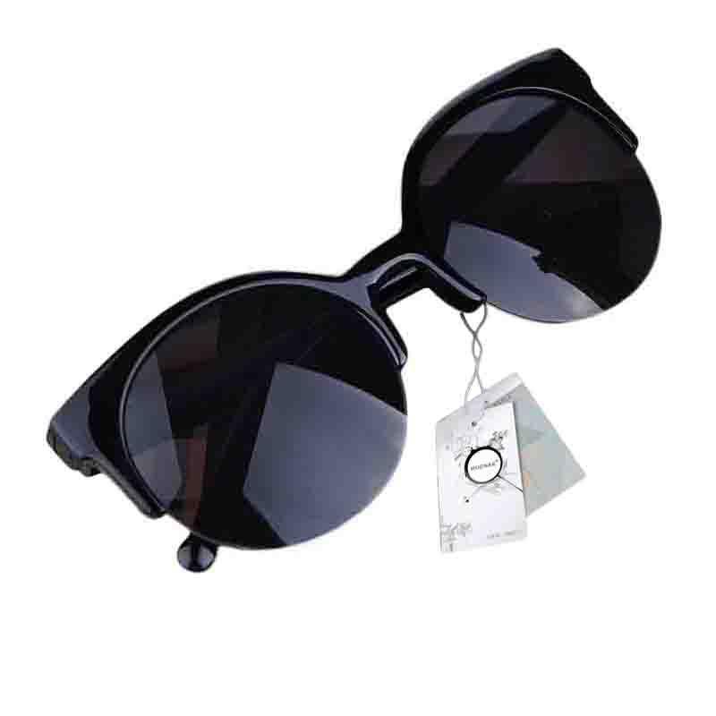 Gafas de sol Vintage Retro Cat Eye Round Sunglasses women lunette de soleil Semi-Rim Eyewear oculos de sol feminino zx*MPJ093#s8(China (Mainland))