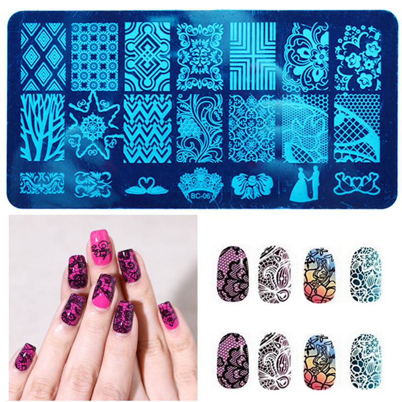 10 New Design DIY Nail Art Image Stamp Stamping Plates Manicure Template Tool #M02031(China (Mainland))