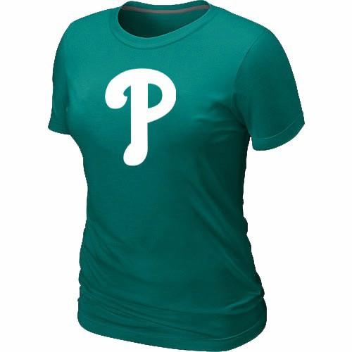 MLB Philadelphia Phillies Heathered L.Green Women's Nike Blended T-Shirt