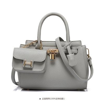 the woman bag High quality PU new handbag fashion picture bag embossed platinum package bag tote bag head tide lock(China (Mainland))