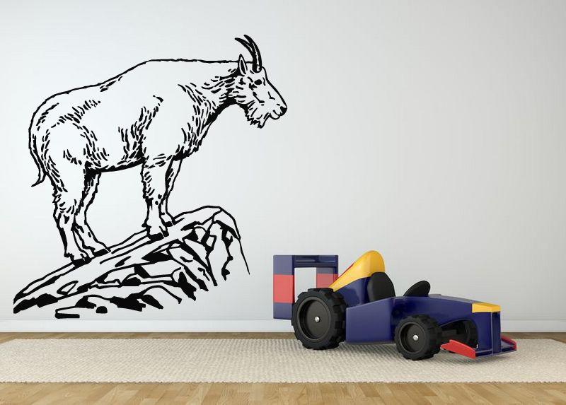 D365 wall room decor art vinyl sticker mural decal goat for Home decor 365