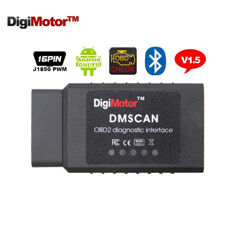 Digimotor PIC18F25k80 ELM327 V1.5 Bluetooth OBD2 ELM 327 V 1.5 OBDII Code Reader Diagnostic Tool Mini Scanner OBD 2 Car OBD-II(China (Mainland))