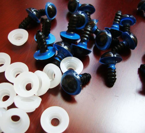 free shipping!!! 1000pcs/lot diam 12mmBlue PLASTIC SAFETY ERES with spacer toy eye toy findings#002