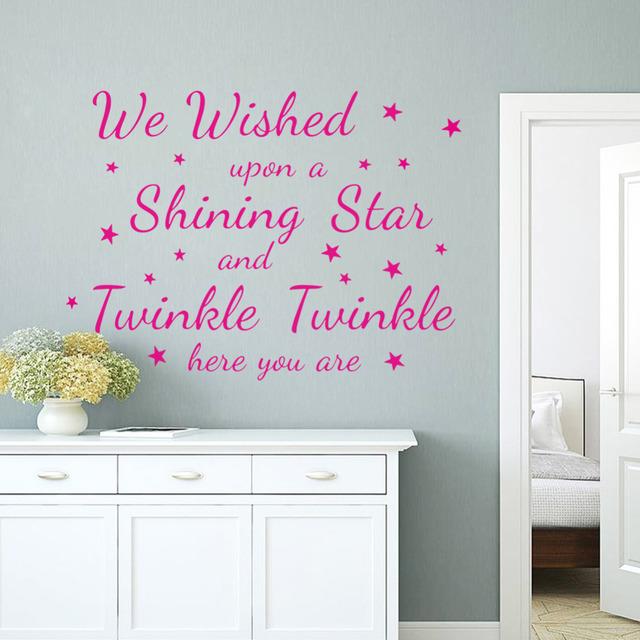 Мерцание светить-звезда стены стикеры для детей номеров домашнего декора на стены декоративные поделки плакат