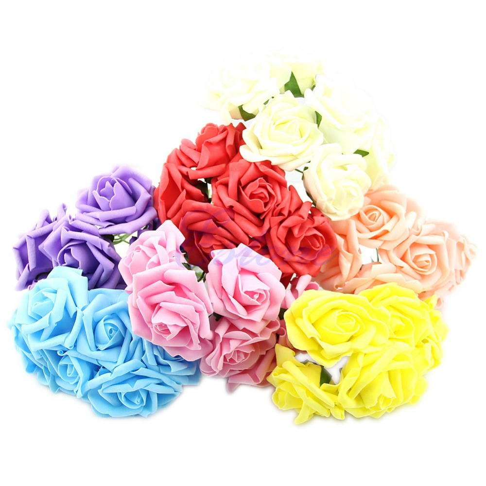 Wedding Bouquet Latex Rose Flower Head Posy Party Bridal Bridesmaid Decor(China (Mainland))