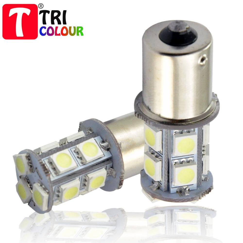 TRICOLOUR 4x1156 BA15S p21w 1157 BAY15D p21/5w bay15d PY21W car led light 13 smd 5050 Brake Tail Turn Signal Light Bulb Lamp 12V(China (Mainland))