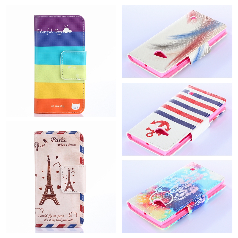 25 Patterns Cartoon Flip PU Leather Phone Case For Nokia Lumia 730 735 N730 Case Wallet Cover With Card Slot For Nokia N730(China (Mainland))