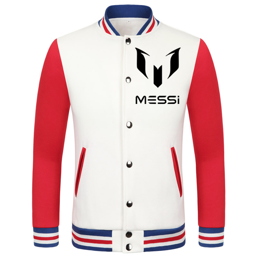 2016 World Cup Lionel Mess thick velvet baseball uniform camiseta barcelonae 2016 college jacket boys survetement football(China (Mainland))