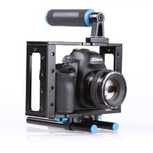 Buy Lightdow DSLR Camera Cage Support Stabilizer Rig Canon 5D Mark II Nikon D7000 D800 D90 15mm Rod Rig Free for $49.90 in AliExpress store