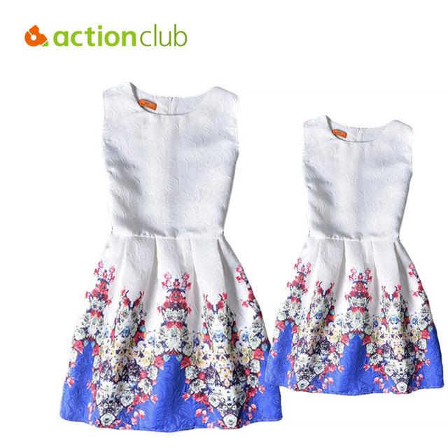 Семья соответствующие одежда платья для девочек и мать лето семья соответствия мать ...