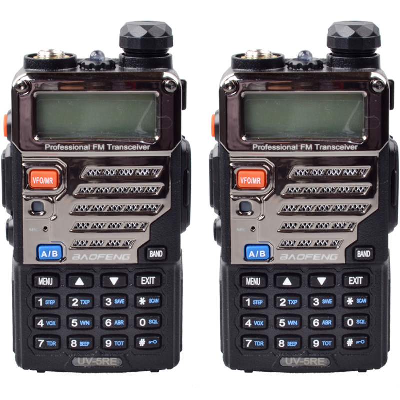 2 PC BaoFeng Walkie Talkie UV-5RE Dual-Band 136-174/400-520 MHz FM Ham Two-way Portable Radio(China (Mainland))