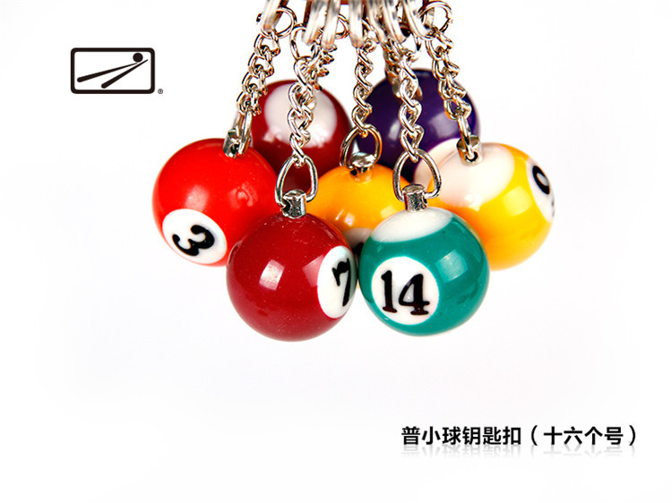 16pcs/set creative mini ball Billiard snooker table keychain keyring chaveiro copa do mundo 2014 bag charms man gift KC052(China (Mainland))
