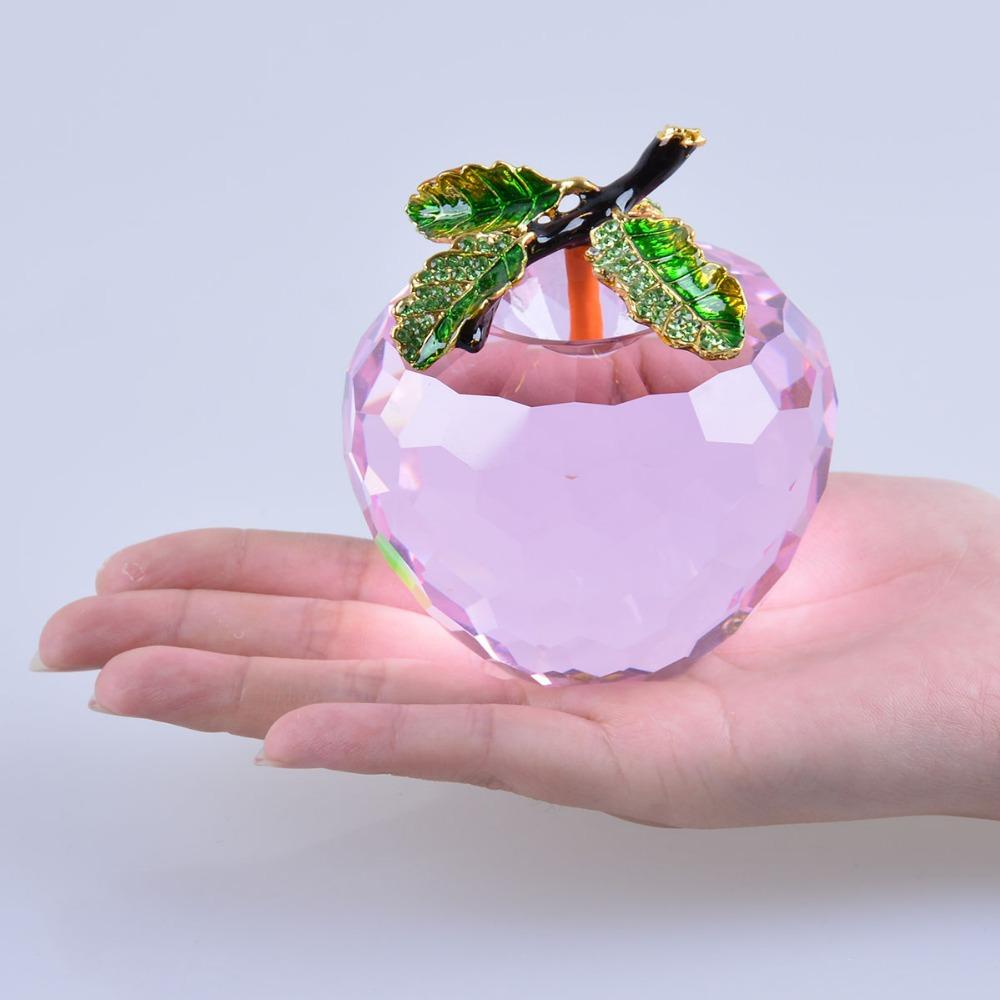 Promoci n de pisapapeles de cristal regalos compra for Frutas de cristal