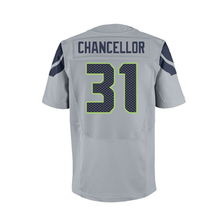 Mens Sherman Jerseys Fan Chancellor l Wilson College Navy Elite Jerseys Adult Embroidery Logos and 100% Stitched(China (Mainland))