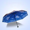 Umbrella Creative Blue Sky Anti UV Umbrella Rain Women Folding Umbrella Parasol White Cloud Sunscreen Balck