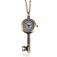 LS4G 2015 New Lover Chic Key Love Classic Fashion Quartz Pocket Watch Pendant Necklace Gift