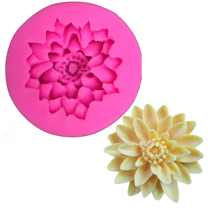 Free Shipping Daisy Findant Silicone Mold Kitchen Utensils Confectionery Chocolate Cake Decorating Tools Ft 158