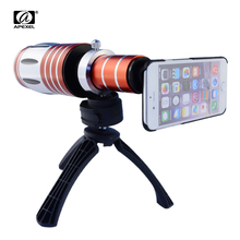 Buy APEXEL Telescopic 50x Zoom Optical Mobile Phone Camera Lenses Telephoto Lens Kit Tripod Case iPhone 7 Telescope Lens for $100.69 in AliExpress store