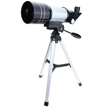 F30070M 15x/150x Refractive Outdoor Monocular Astronomical Telescope With Portable Tripod Spotting Scope Silver Color(China (Mainland))