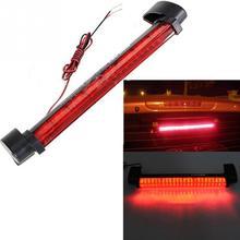 12V Universal Vehicle Car 24 LED Red Third Brake Light Bar Tail Stopping Braking Lamp Bulb(China (Mainland))