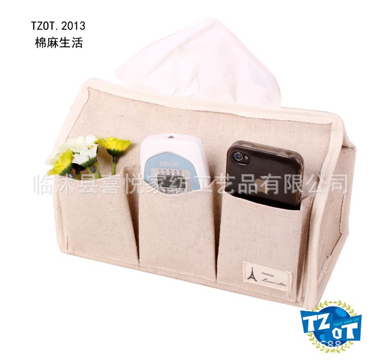 zakka linen tissue pumping storage manufacturers specializing in the production of multi-function storage box car tissue box who(China (Mainland))