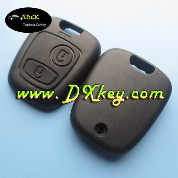 2 button car keys shell for Peugeot/Citroen key shell keys fobs without logo and blade for 406 key blade place(China (Mainland))