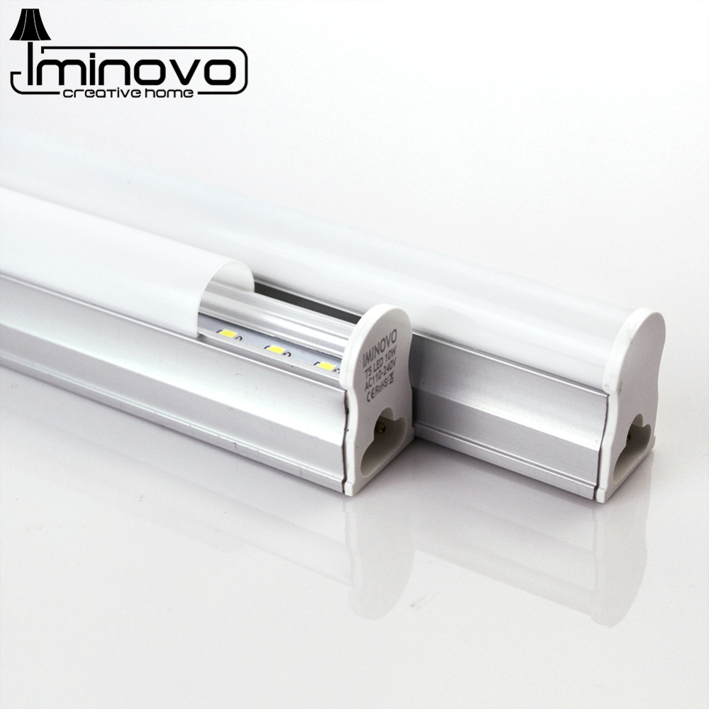 IMINOVO LED Tube T5 Light Integrated 110V 220V 30CM 6W 60CM 10W LED Milky Cover With Swtich SMD 2835 Wall Lamp Warm Cool White(China (Mainland))