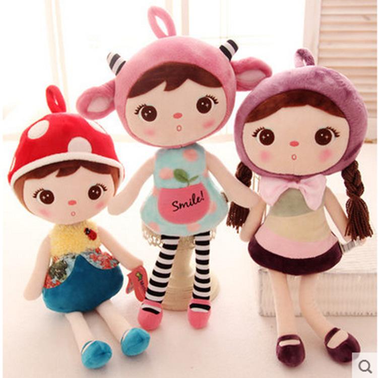 45cm 1pcs Cute Angela Dolls With Metoo Bunny Plush Toys Stuffed Animals Panda Bee Dolls For Girls Baby Kids, Doll Wedding Gift(China (Mainland))