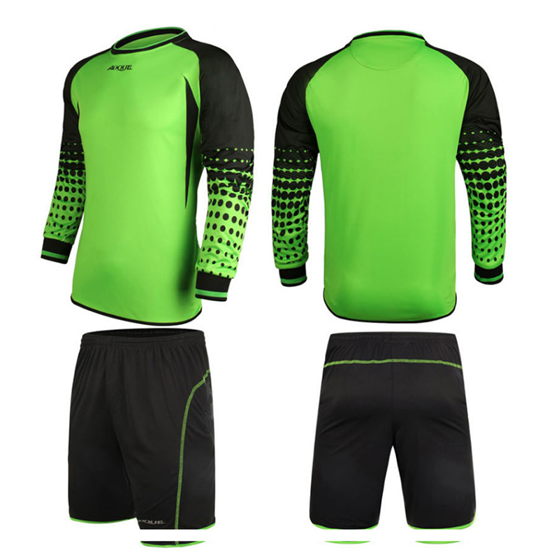 MC1387 Soccer Jersey Kids Football Goalkeeper Soccer Uniforms Sets Training Suits Doorkeepers Long Sleeve For Children Clothing(China (Mainland))